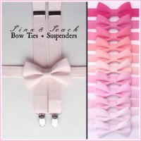 PINK Bow Tie And Suspenders: Boys Pink Suspenders, Toddler ...