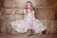 Lace Rustic Flower Girl Dress - Champagne Lace Dresses ...