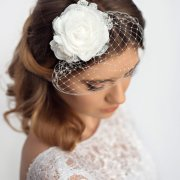 birdcage veil - wedding hair piece