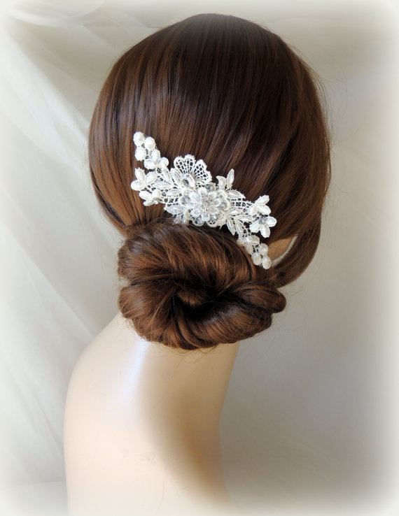 lace and pearl bridal hair comb wedding hair comb vintage style bridal hair comb bridal wedding hair accessories vintage style