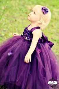 Eggplant / Plum, Flower Girl Dress, Tutu Dress, Newborn ...