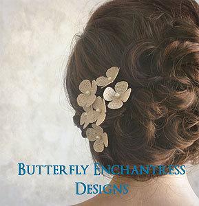 rustic hair flowers bridal accessories woodland burlap wedding 6 burlap hydrangea hair pins