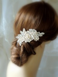 Wedding Hair Accessories, Wedding Ivory Hair Comb