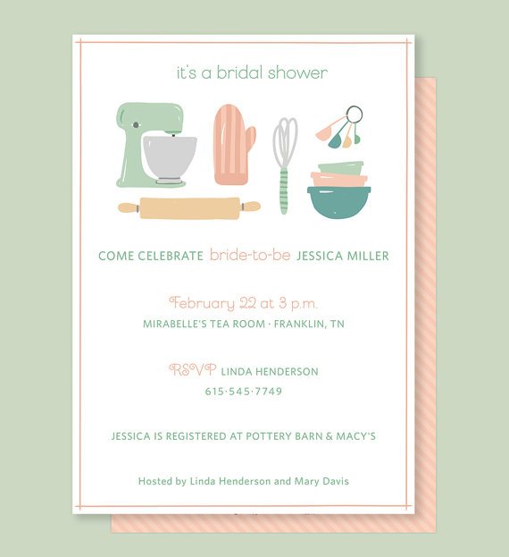 kitchen bridal shower chelsea nook invitation with vintage mixer for wedding