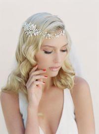 Bridal Hair Wreath, Crystal And Pearl Hair Garland ...