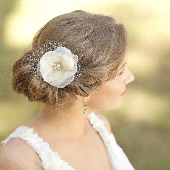 wedding hair flower fascinator wedding hair piece bridal hair pieces champagne hair flowers hair accessories vintage rustic rhinestone pearl