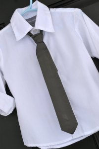 Little Boy Tie - Classic Solid Dark Charcoal Grey ...
