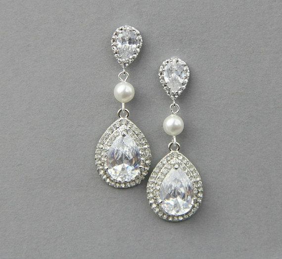 Pearl Wedding Earrings Vintage