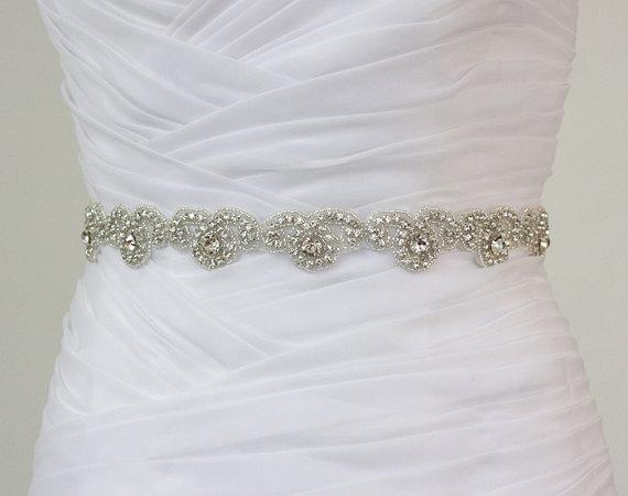 Rhinestone Bridal Belt, Wedding