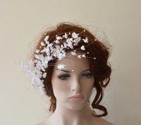 Wedding Flower Hair Combs, Wedding Hair Accessories