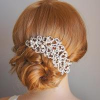 PERRINE, Victorian Style Wedding Hair Comb, Ivory Or White ...