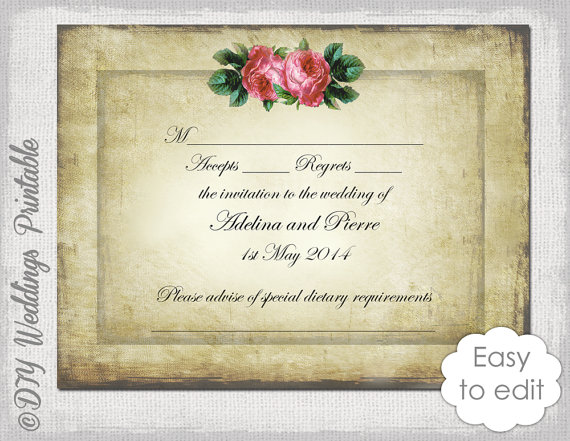 Images of Free Printable Wedding Rsvp Card Templates Weddings Center – Free Wedding Rsvp Cards