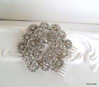 vintage wedding hair brooch vintage style rhinestone ...