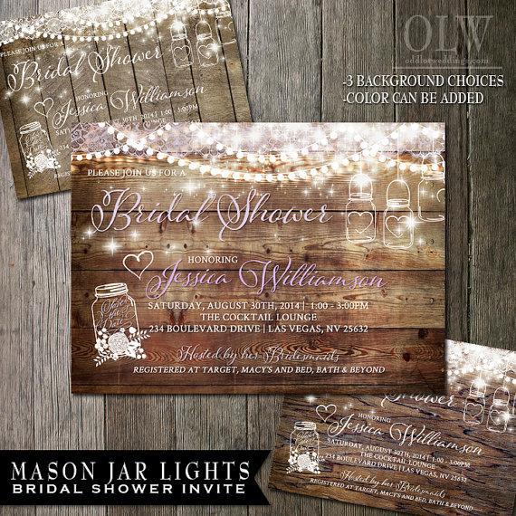 Mason Jar Bridal Shower Invitation