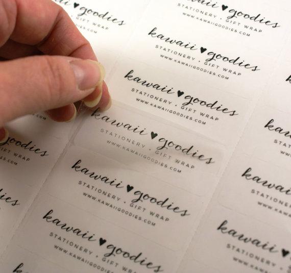 Custom Print Clear Address Labels 2 5 8 X 1 Transpa