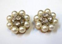 Rhinestone Pearl Earrings Rhinestone Pearl Earrings ...
