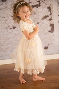 Ivory Lace Flower Girl Dress,Sale,Lace Girl Dress, Rustic ...