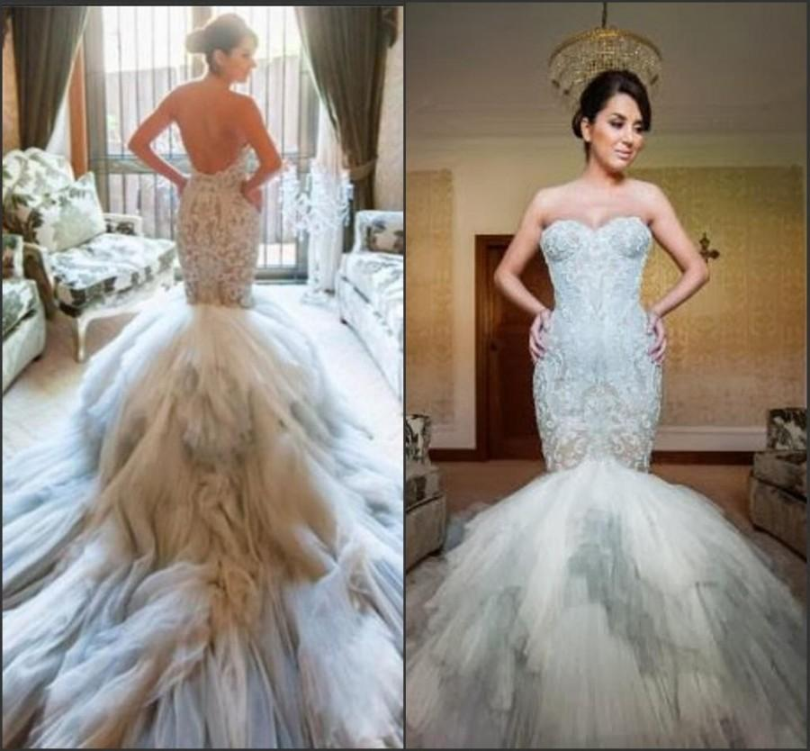 New Arrival Mermaid Wedding Dresses Pastels Applique Lace