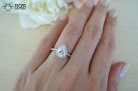 1.5 Carat Pear Cut Halo Engagement Ring, Vintage Style ...