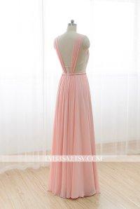 Blush Chiffon Bridesmaid Dresses | www.imgkid.com - The ...