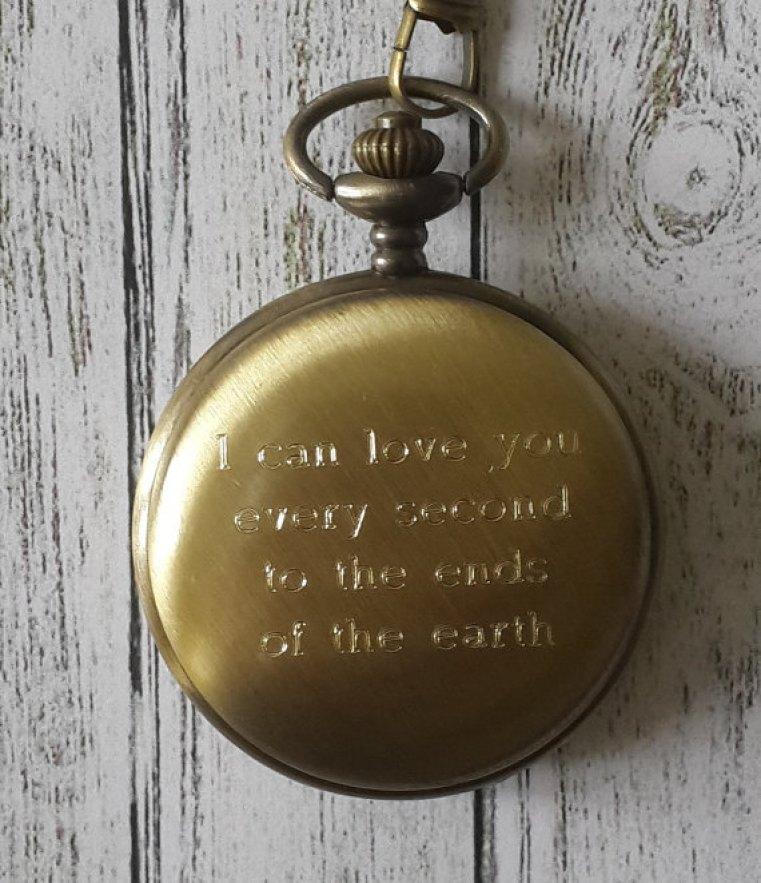 Pocket Watch, Engraved Pocket Watch, Personalized Pocket Watch, Brass Pocket  Watch, Groomsmen Pocket Watches, Wedding Gifts #2258462 - Weddbook