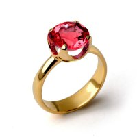 CUP Ruby Engagement Ring, Gold Ruby Ring, Ruby Promise ...