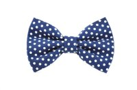 Navy Swiss Dot Pet Bow Tie - Detachable Navy Blue And ...
