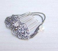 Antique Silver Hair Comb, Wedding Hair Accessories, Bridal ...