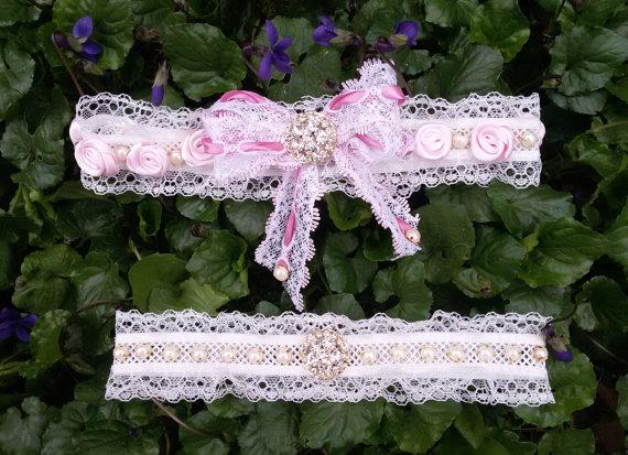 Bridal Garter Set, Rustic Garter, Rustic Wedding Garter