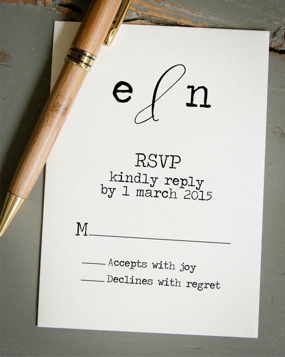 Wedding Rsvp Card Diy