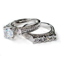 Wedding rings for beautiful women: Vintage style wedding