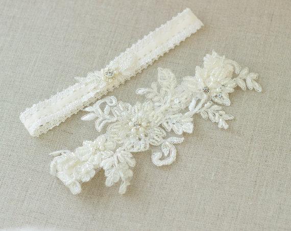 Wedding Garter Belt Wedding Garter Belt Ivory Bridal Lace Garter