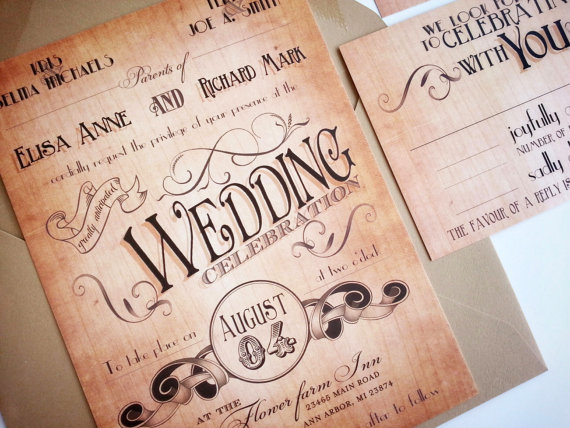 Wood Engraved Wedding Invitations Via Oh So Beautiful Paper 4