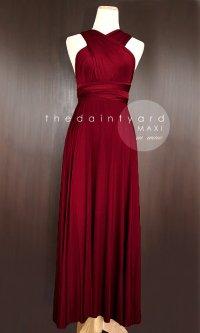 MAXI Wine Red Bridesmaid Prom Wedding Infinity Dress ...
