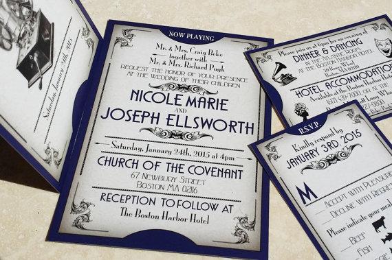 New The Gatsby Ball Ticket Wedding Invitations Great