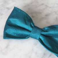 Solid Teal Silk Bow Tie - Groomsmen And Wedding Tie - Clip ...