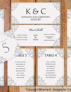 Wedding seating chart template download instantly edit yourself nadine gray microsoft word format also rh dedbook