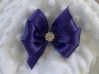 Wedding Dog Hair Bow Custom Made Ribbon And Rhinestone ...