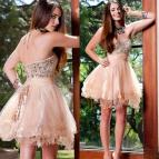 Blush Pink Short Prom Dresses