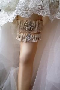 Wedding Leg Garter, Wedding Garter Set , Ribbon Garter Set ...
