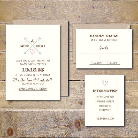 Rustic Wedding Invitations Lace Invitation Kraft Elegant Shabby Chic Diy