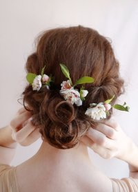 Bridal Hair Flower, Flower Hair Pins, Wedding Hairpiece