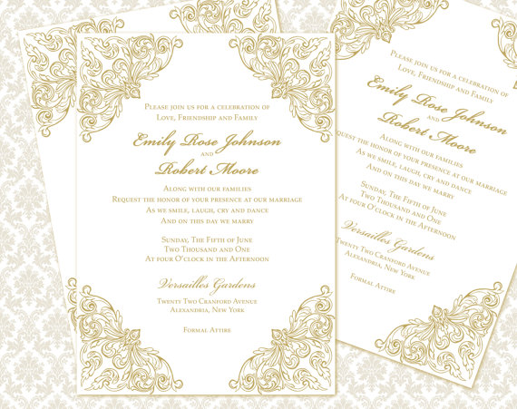 Now it's only up to you to take your pick. Diy Wedding Invitation Printable Template 5x7 Invitation 2312864 Weddbook