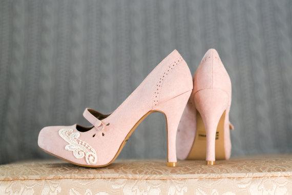 Blush Pumps Wedding
