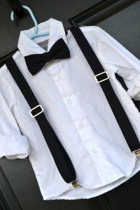 Childs Black Bow Tie, Little Boy Bowtie, Black Bowtie ...