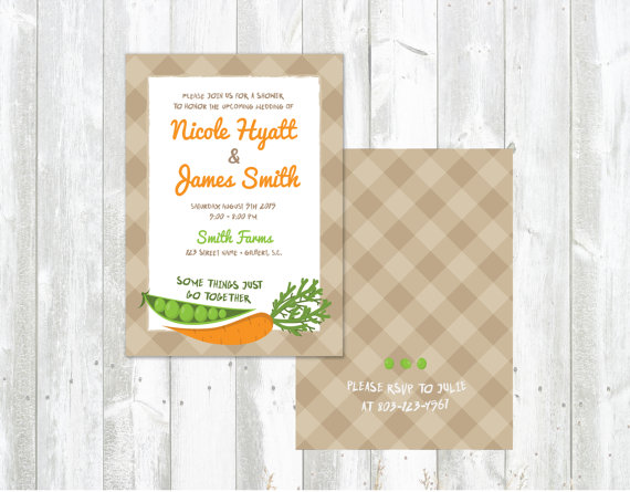 Carrots Wedding Shower Invitations