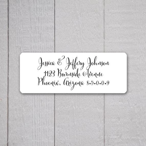 Address Labels Wedding Invitations