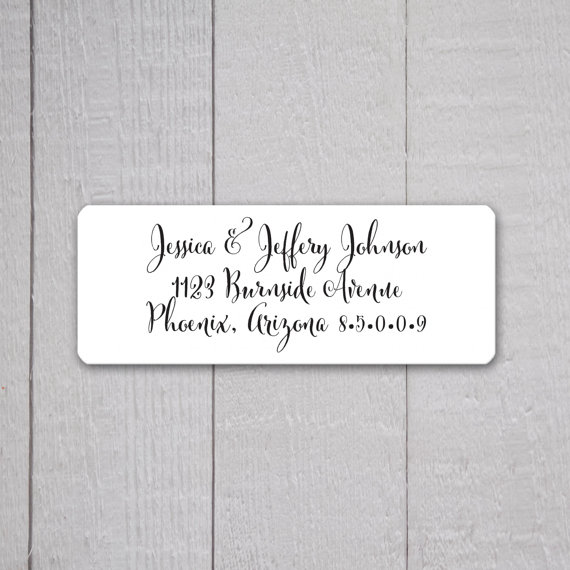Wedding Invitation Return Address Labels Stickers