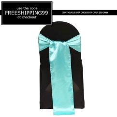 Wedding Chair Sash Accessories Cover Rentals Durham Nc Turquoise Satin 2327721 Weddbook