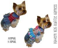 Ruffle Dog Harness Pattern * XXSmall & XSmall * Dog ...